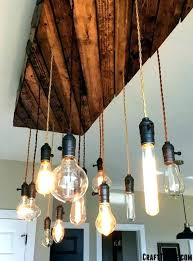 finished fixture edison bulb chandelier reclaimed lumber hanging