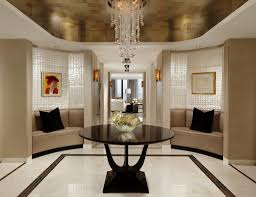 interior foyer room awesome looking into pool orig dining ideas round tables contemporary lighting high ceilings furniture hanging light fixtures narrow