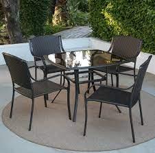 glass top patio dining set indoor