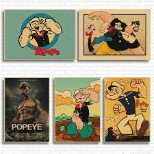 Popeye Thủy Thủ Với Betty Boop Cổ Điển Bộ Phim Giấy Kraft Thanh Poster  Retro Poster Tranh Trang Trí|retro poster|bar postersposter retro -  AliExpress
