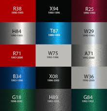 Mitsubishi Color Code Chart Gto Paint Code Location Gtoperformance Co Nz