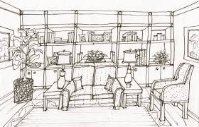 interior design sketches living room. One Point Perspective Interior Drawing Hand Living Room Sketch. Modern Office Design Ideas. Innovative Sketches