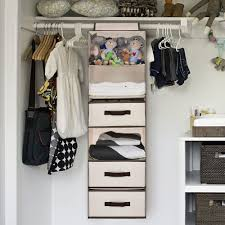 details about hanging closet organizer foldable with 3 drawers 6 shelf 2 side pocket beige
