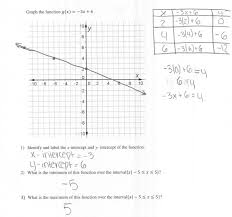 equations tables and graphs worksheets graph linear function five 5 minute math graphing linear equations