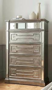 chest with mirror living 5 drawer tall chest with silver mirror panel mirrored chest of drawers