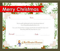 christmas certificates templates free christmas gift certificate templates lizardmedia co beauteous