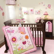 cute baby girl nursery room interior decorations with pink erfly themed nursery room decor and dark