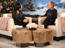 explanation sia told ellen degeneres that she keeps her face beneath wigs so that