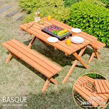 garden table bench table bench set wooden bench 3 point set outdoor garden table porch balcony terrace natural wood cedar bbq table chair chair basque