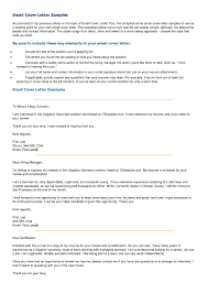 Sending A Cover Letter And Resume Via Email Gallery Cover Letter