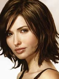 Haircut Women Medium Shoulder Length In Piecey Layers Side Part