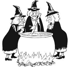 Small Picture Witches prepares magic mixture coloring pages Hellokidscom