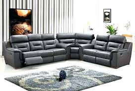 cool sectional sofas reclining collection in leather