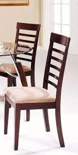 set of 2 dining chairs cherry light beige finish