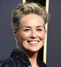 actress sharon stone smiling on the