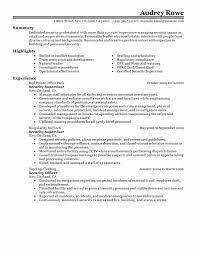 Security Resume Sample Resume format for Security Officer Best Of Security Resume Sample 9