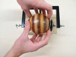 picture of jig for cutting a wooden ball