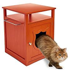 designer litter box.  Box Pet Hup Brown Nightstand Cat House And Litter Box Cover  Designer  Indoor Wooden Furniture On N