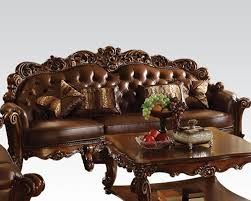 Oversized Furniture Living Room Traditional Oversized Sofa Vendome Cherry By Acme Furniture Ac52000