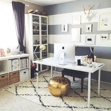 mid century modern home office. Hairy Carpet Striped Wall And Shiny Metal Finishing Details For Your Cozy Office Mid Century Modern Home