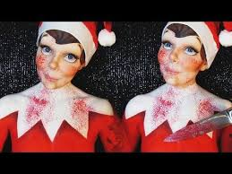 evil elf on the shelf makeup body paint tutorial ash clements you