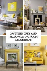 Living Room   Stylish Grey And Yellow Living Room Decor Ideas - Livingroom accessories