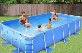 rectangle above ground pool sizes. Modren Above Pool With Deck Intex Easy Set Rectangle Above Sizes  OriginalViews Inside Ground Z