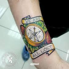 компас значение татуировок в заречном Rustattooru