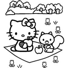 Hello Kitty Colring Sheets Printable Hello Kitty Coloring Pages Photo Album