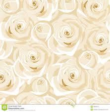 Naadloze Achtergrond Met Witte Rozen En Knoppen Vector Illustratie
