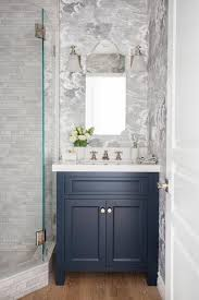 awesome excellent blue vanity cabinet with grey textured wall tiles for classic bathroom ideas with laminate wooden floor with bathroom laminate