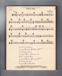 how much is old sheet music worth born free vintage 1966 sheet music charles hansen music publisher