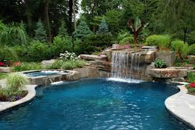 inground pools with waterfalls and slides. Pool Designs With Waterfalls. Affordable To Match Your Garden Style Picture Cool Inground Pools Waterfalls And Slides A