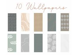 10 iPhone Wallpapers Pack Cool Neutral ...