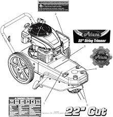 Ariens 946154 000101 string trimmer parts diagrams