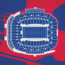 Vaught Hemingway Stadium Map Art