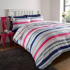 dreamscene pink purple stripe double duvet cover set prev next zoom