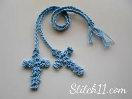 Crochet Cross Bookmark Pattern