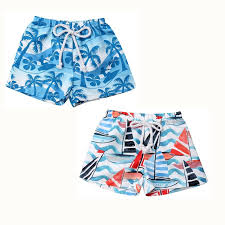 Hawaiian <b>Kids Boy</b> Beach Leaves Printed <b>Shorts 2019</b> Newborn ...