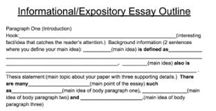Define Expository Essay Expository Informational Essay Scaffolding Template