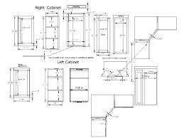 upper corner kitchen cabinet dimensions corner