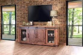 barn door tv console consoles