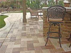 I Love The Stamped Concrete Unique Outdoor Patio Floors
