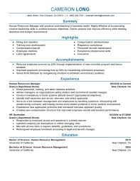 ... Exclusive Hr Manager Resume 6 Best Human Resources Manager Resume  Example ...