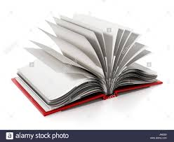 open book with blank white pages 3d ilration