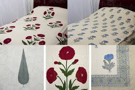 hand block printed bedspreads available in medium or large size from 45 00