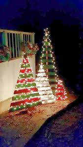 outdoor christmas lights idea unique outdoor. Amazing Outdoor Christmas Decorations. A Bunch Of Scrap Wood Pieces Painted In Green And Red Are More Than Enough To Lights Idea Unique