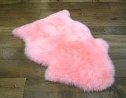 pink sheepskin rugs pink sheepskin rug john lewis