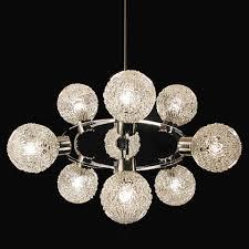 Vintage Kronleuchter Satelite Sputnik Orbit Lampe Chrom Glas 70er