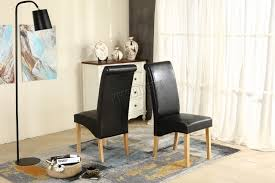 faux leather high back chairs. premium-dining-chairs-faux-leather-roll-top-scroll- faux leather high back chairs g